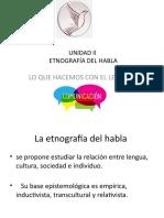 Etnografia Del Habla 2017