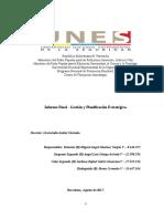 MG.ao.JG.jc INFORME FINAL - GESTIÓN Y PLANIFICACIÓN ESTRATEGICA P.N.F. Licenciatura en Ciencias Del Fuego, Rescate y Seguridad Contra Incendios (Proceso II-2015, Trayecto III, Trimestre XII, Ambiente 1)