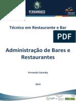 Caderno Administrao de Bares e Restaurantes