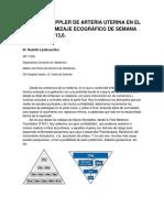 Doppler de Arteria Uterina en El Tamizaje Ecográfico de Semana 11-13,6.