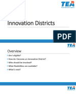 Texas District of Innovation Overview
