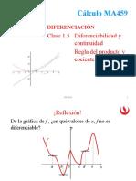 1.5_Diferenciabilidad y Continuidad. Regla Del Producto y Cociente