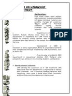 Customer Relationship Management. Rao