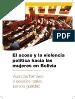 El acoso y la violencia política hacia las mujeres en Bolivia.