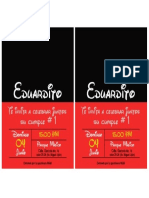 Invitaciones Eduardito