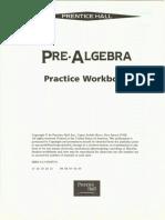WorkbookPre Algebra