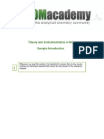 Theory and Instrumentation of GC Sample Introduction