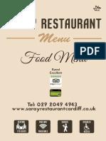 Saray Restaurant A4 Folded to A5 Flyer
