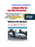 Discover the Lotto Winning Solution That Really Works