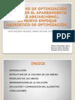 Algoritmo de Optimización Basado en Apareamiento de Las Abejas(HBMO)