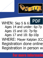 Online Flyer Vortex Volleyball Template