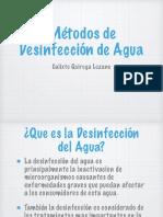 Metodos de Desinfeccion de Agua