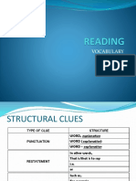 Vocabulary Structural Clues