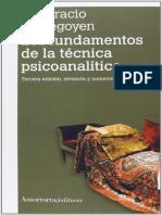 Etchegoyen, Horacio - Los Fundamentos de La Tecnica Psicoanalitica.pdf