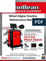 John Bean Aligner Routine Maintenance Manual