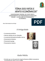 História Dos Fatos e Pensamento Econômicos