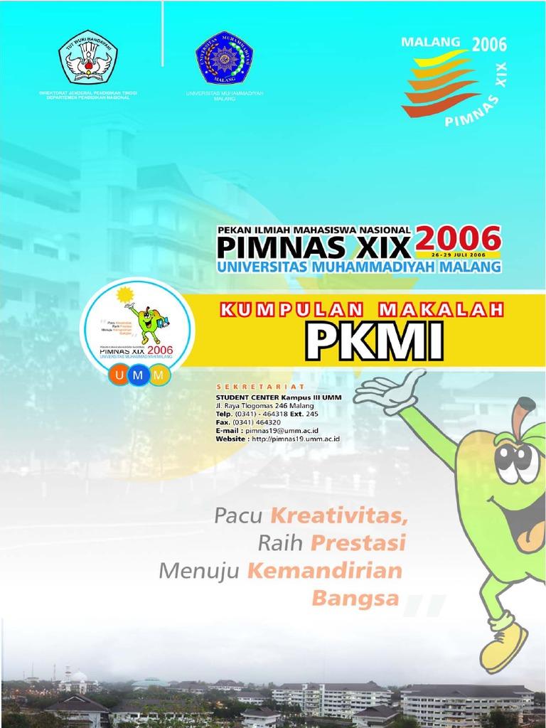 Kumpulan Makalah PKMI PIMNAS XIX 2006 UMM Malangpdf