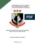 Apostila Prof. Norman Logsdon Estruturas de Madeira Sob a Ótica Da NBR 7190 UFMT