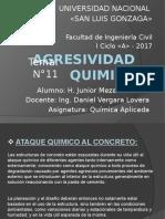 AGRESIVIDAD QUIMICA
