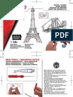 Meccano Torre Eiffel y Puente Brooklyn