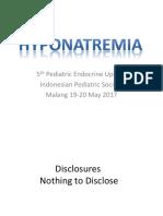 Dr. Bambang Tridjaja - Hyponatremia Endocrin Approach