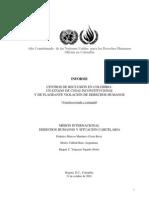 Informe anual de situación carcelaria en Colombia