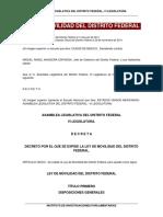Ley Movilidad CDMX