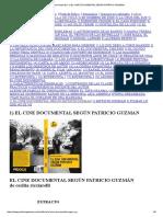 El Cine Documental Según Patricio Guzman Extracto