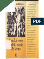 Antropologia Um Diario No Sentido Estrito Do Termo Bronislaw Malinowski