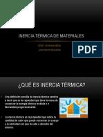 Inercia Térmica de Materiales 1