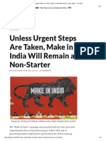 Unless Urgent Steps Are Taken, Make in India Will Remain a Non-Starter - The Wire