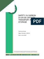 2009 6 Safety Carbon Dioxide Capture Transport and Storage