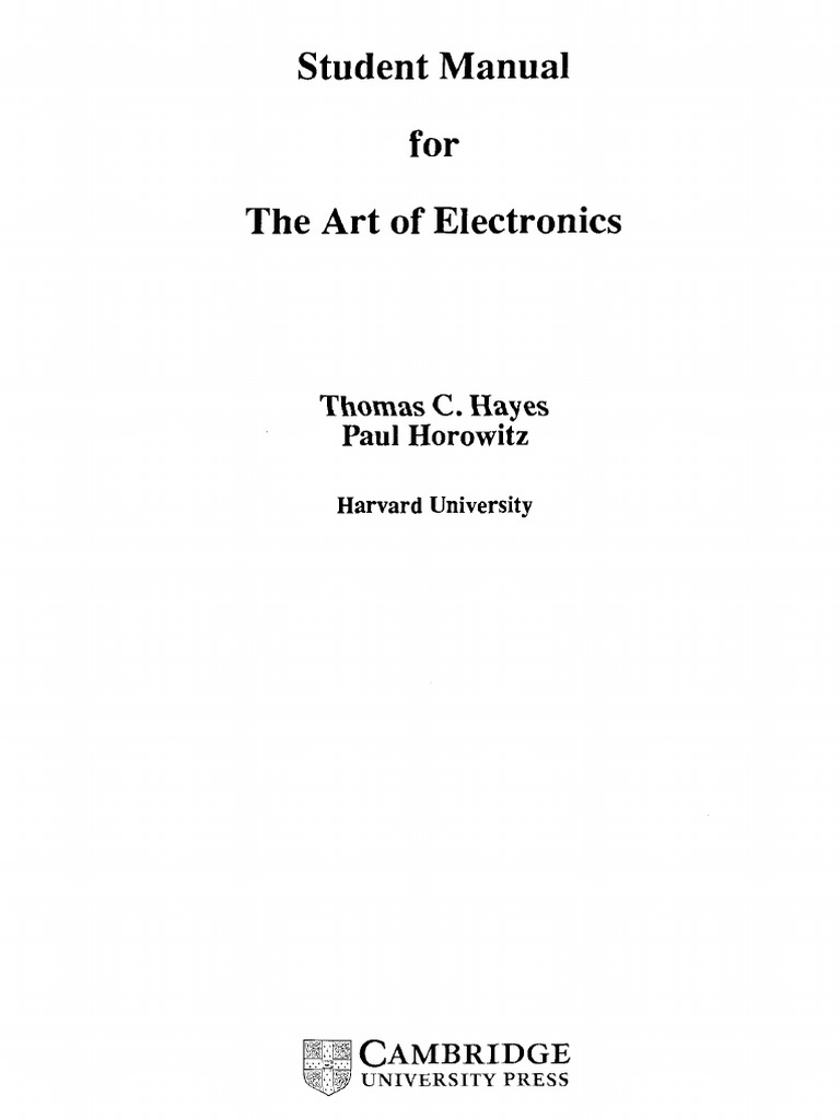 Student Manual For The Art Of Electronicspdf Amplifier Circuitlab 555 Bistable Circuit Operational