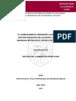 2.a-el Arrendamiento Financiero (Leasing) en La Gestión Financiera de Las Micro y Pequeñas Empresas (Mypes) en El Distrito de La Victoria