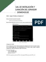 Manual de Instalación Del Servidor Raspberry Pi