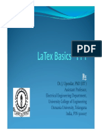 Latex Basics-PPT By Dr. J. Upendar