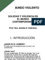 Ahimbriano Soledad y Violencia en El Mundo Contemporaneo