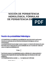 Lección 05 Persistencia Hidrológica