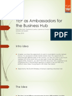 YEP as Ambassadors for the Business Hub