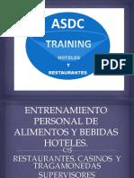 Brochure de Entrenamiento 2017. Para Hoteles