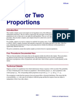 Tests for Two Proportions
