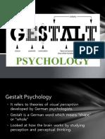 Gestalt Psychology ppt prepared by