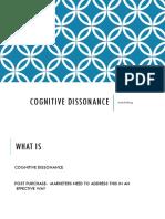 Cognitive Dissonanace