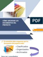 Archivar Documentos en Un Proyecto -Fase Cierre