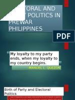 Electoral and Party Politics in Prewar Philippines