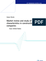 Market Review and Study of Success of Construcion Company