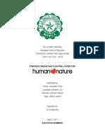 Human Nature Final Paper