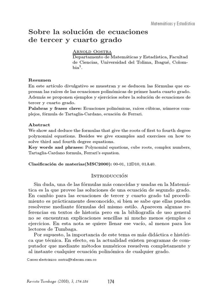 Sobre La Solucion De Ecuaciones De Tercer Y Cuarto Grado.pdf