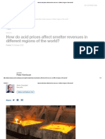 How Do Acid Prices Affect Smelter Revenues in Different Regions of the World