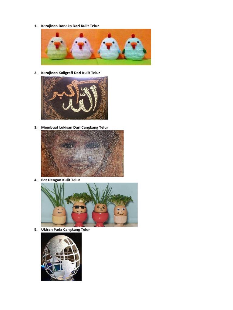Kerajinan Boneka Dari Kulit Telur
